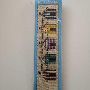"""Beach Huts"" bookmark cross-stitch embroidery kit"