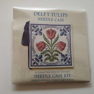 """Delft Tulip"" needlecase cross-stitch embroidery kit"
