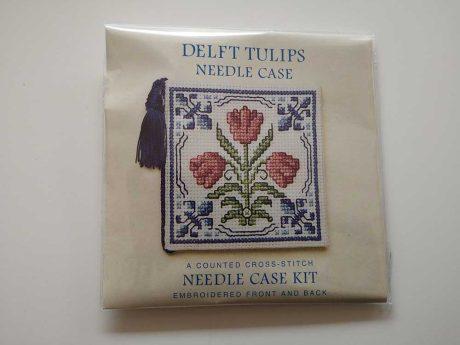 """Delft Tulip"" needlecase cross-stitch embroidery kit"