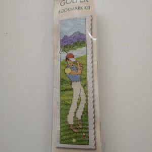 """Golfer"" bookmark cross-stitch embroidery kit"