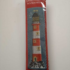 """Lighthouse"" bookmark cross-stitch embroidery kit"