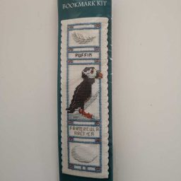 """Puffin"" bookmark cross-stitch embroidery kit"