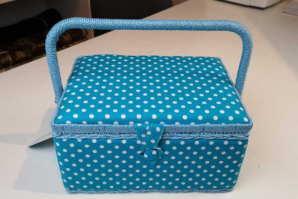 Traditional padded sewing box