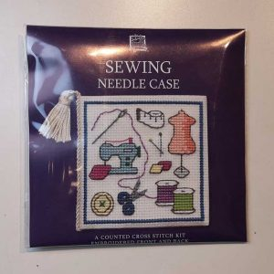 """Sewing"" needlecase cross-stitch embroidery kit"