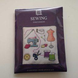 """Sewing"" pin cushion cross-stitch embroidery kit"