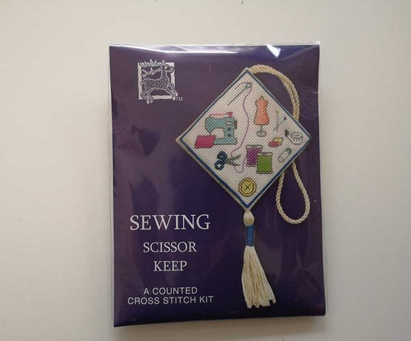 """Sewing"" scissor keep cross-stitch embroidery kit"