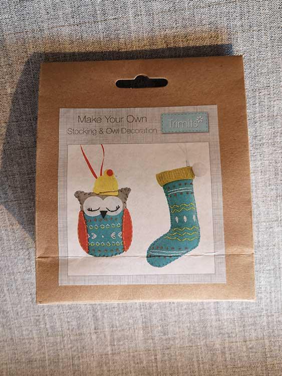 Felt decoration kit, Christmas Stocking and Owl