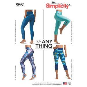 Simplicity Pattern 8561 Women's Leggings