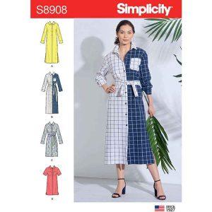 S8908 Misses' Shirt Dress