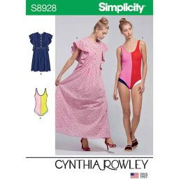 S8928 Misses' Swimsuit and Caftans by Cynthia Rowley