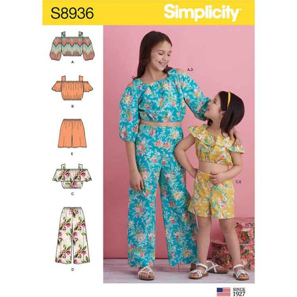S8936 Children's and Girl's Tops, Pants and Shorts