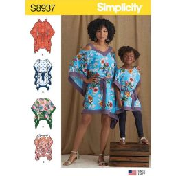 S8937 Children's and Misses' Caftans