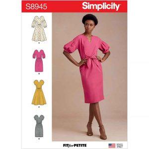 S8945 Misses' and Miss Petite Dresses