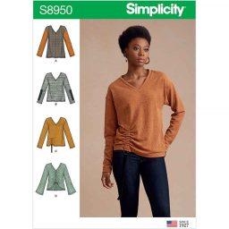 Sweater knit tops pattern