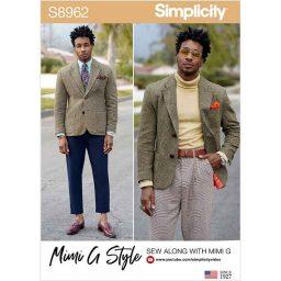 S8962 Men's Lined Blazer