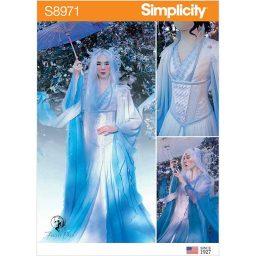 S8971 Misses' Fantasy Costume.