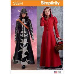 S8974 Misses' Cosplay Coat Costume.