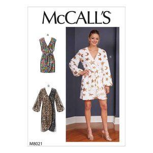 M8021 Misses' Dresses & Belt