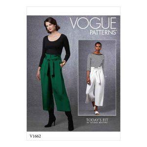V1662 Misses' Pants & Belt