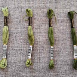 Anchor Stranded Cotton, 8m skein (greens #2)