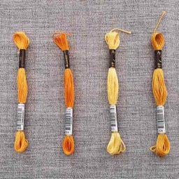 Anchor Stranded Cotton, 8m skein (oranges)