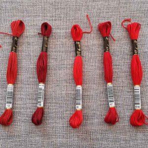 Anchor Stranded Cotton, 8m skein (reds)