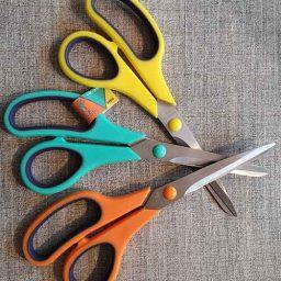 Economy soft-grip multi-purpose scissor (21cm)
