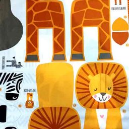 "Moda Safari soft toy kit panel (36"" x 44"")"