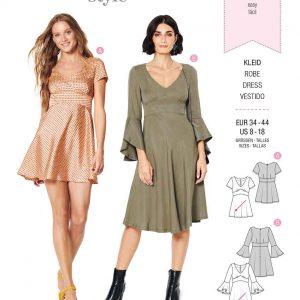 Burda Style Pattern 6205 Misses' Dress with Empire Waist