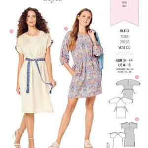 Burda Style Pattern 6206 Misses' Casual Dress with Raglan Sleeves