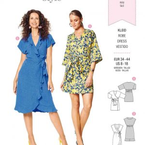 Burda Style Pattern 6207 Misses' Wrap Dress with Tie Bands