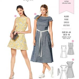 Burda Style Pattern 6209 Misses' Dress with Flared Skirt