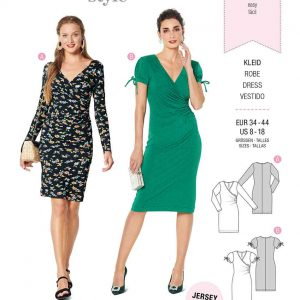 Burda Style Pattern 6211 Misses' Dress in Wrap Look