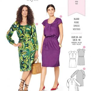 Burda Style Pattern 6222 Misses' Dress with Pleats at Neckline