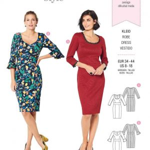 Burda Style Pattern 6223 Misses' Dress with Band at Waist