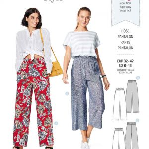 Burda Style Pattern 6229 Misses' Trousers/Pants with Elastic Waist with Pockets in Seams