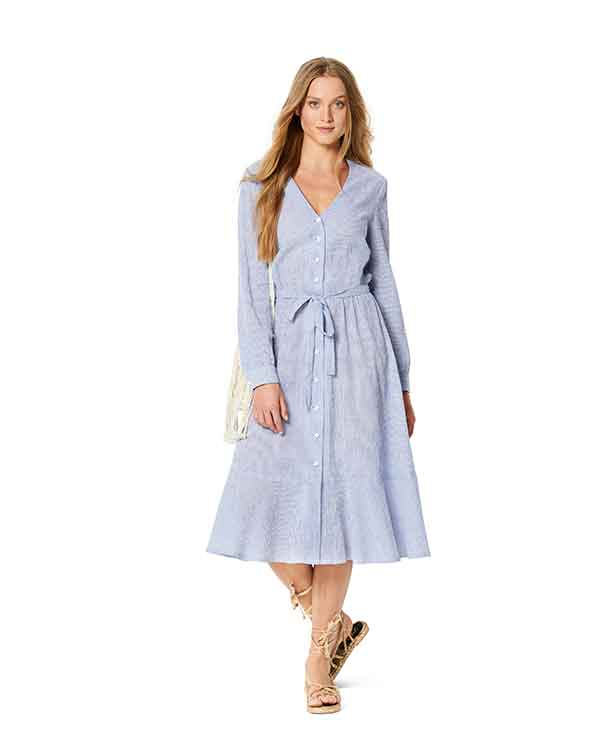 Burda Style Pattern 6237 Misses' Dress with Button Fastening