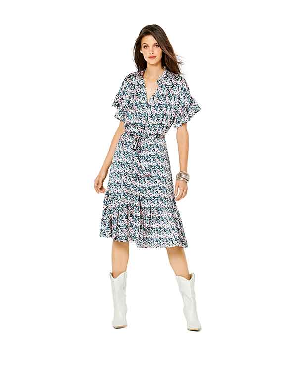 Burda Style Pattern 6240 Misses' Dress with Button Fastening
