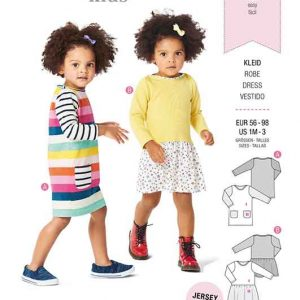 Burda Style Pattern 9296 Babies' Shirtdress with Pockets