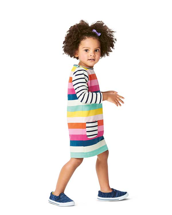 Burda Style Pattern 9296 Babies' Shirtdress with Pockets