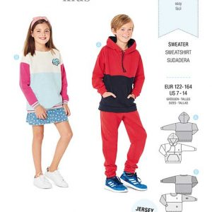 Burda Style Pattern 9301 Children's Sweater