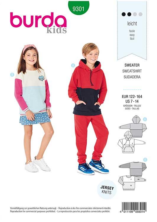 Burda Style Pattern 9301 Children's Sweater