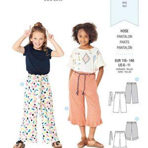 Burda Style Pattern 9302 Children's Pants with Elastic Waist