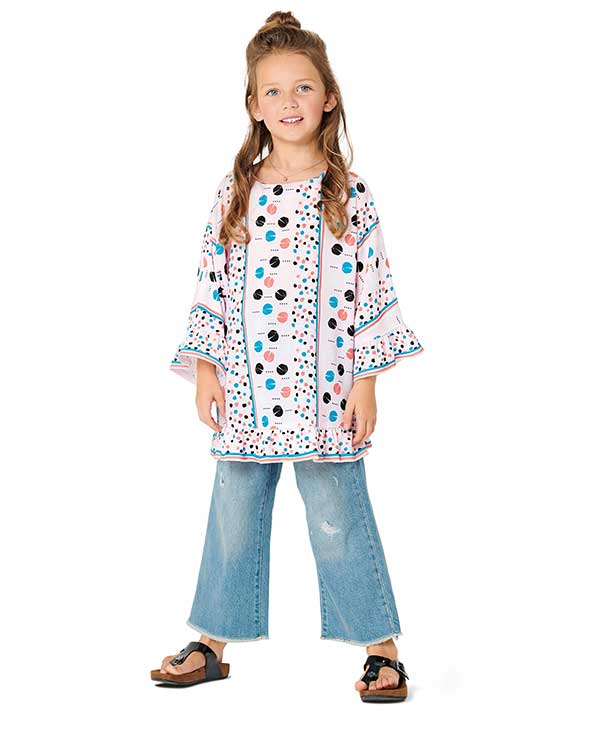 Burda Style Pattern 9303 Children's Top with Integral Sleeves