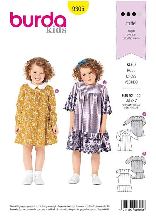 Burda Style Pattern 9305 Children's Dress with Yoke