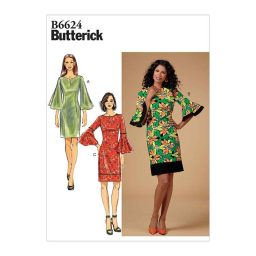 B6624 Misses'/Misses' Petite, Women's/Women's Petite Dress