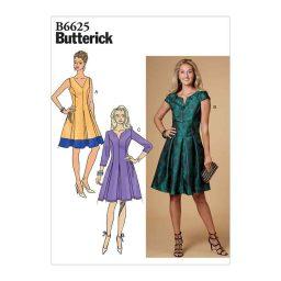 B6625 Misses'/Misses' Petite Dress