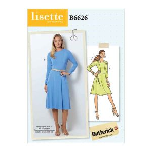B6626 Misses'/Misses' Petite Dress