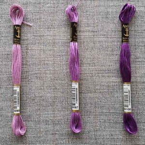 Anchor Stranded Cotton, 8m skein (purples)