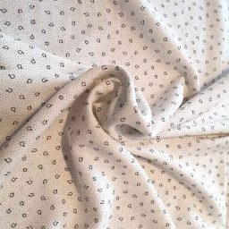 """Speckle"" viscose print (dark grey/ivory)"